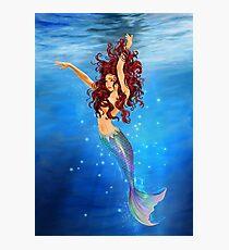 Mermaid I - Auburn Hair, Blue Eyes Photographic Print