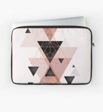 Geometric Triangles in blush and rose gold Laptop Sleeve