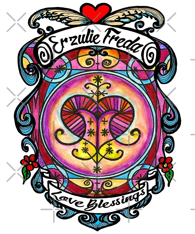 Erzulie Freda Lwa Veve For Love Blessings Voodoo Photographic