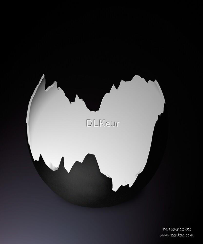 Broken Black Egg Shell by DLKeur