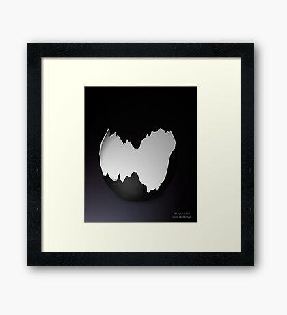 Broken Black Egg Shell Framed Print