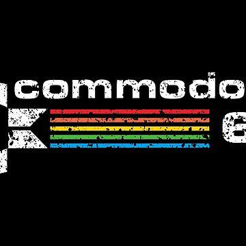 commodore 64 retro computer by cartogie