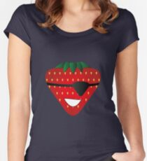Strawberry Patch Women's Fitted Scoop T-Shirt