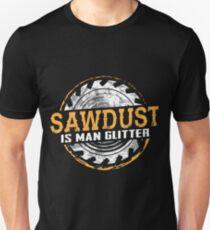 Sägemehl ist Mann Glitter Shirt Slim Fit T-Shirt