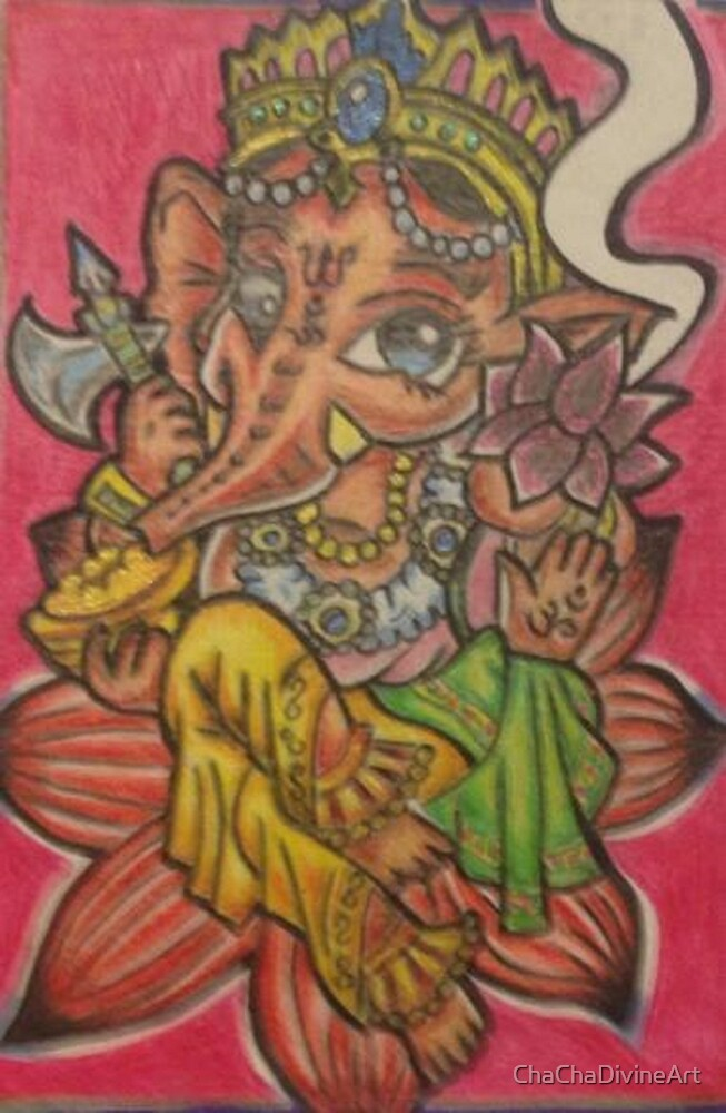 Groovy Ganesha by ChaChaDivineArt