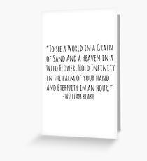 To see a world in a grain of sand.. Greeting Card
