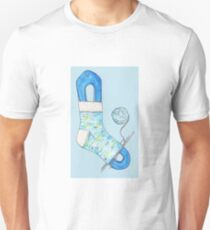 Hand knitted Sock T-Shirt
