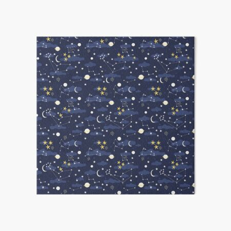 Galaxy - cosmos, moon and stars. Astronomy pattern. Cute cartoon universe design. Art Board Print