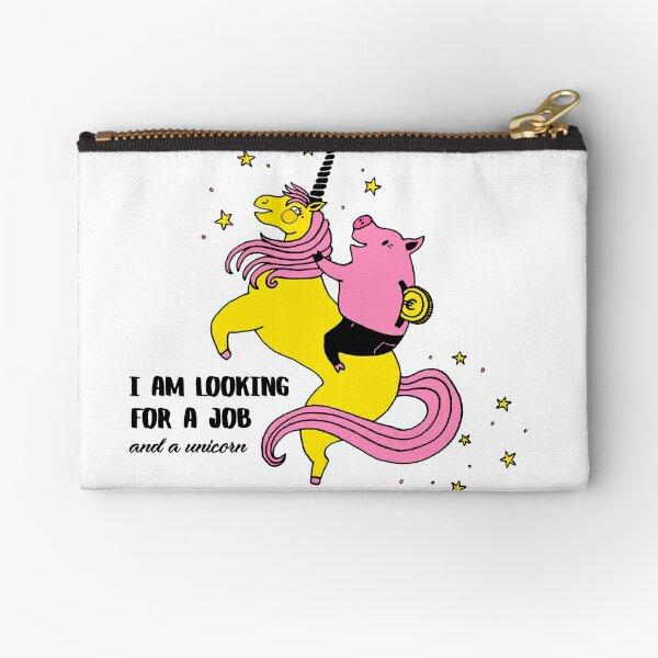 Job And Unicorn Zipper Pouch