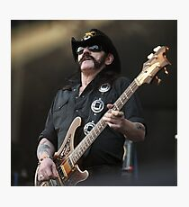 Lemmy - Rock god Photographic Print