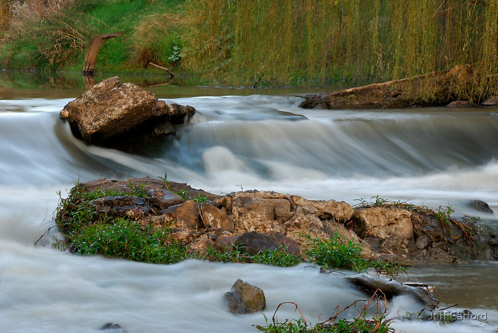 Rapids - Lachlan River - Forbes, NSW by Jeff Catford
