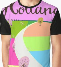 Holland fields travel poster  Graphic T-Shirt