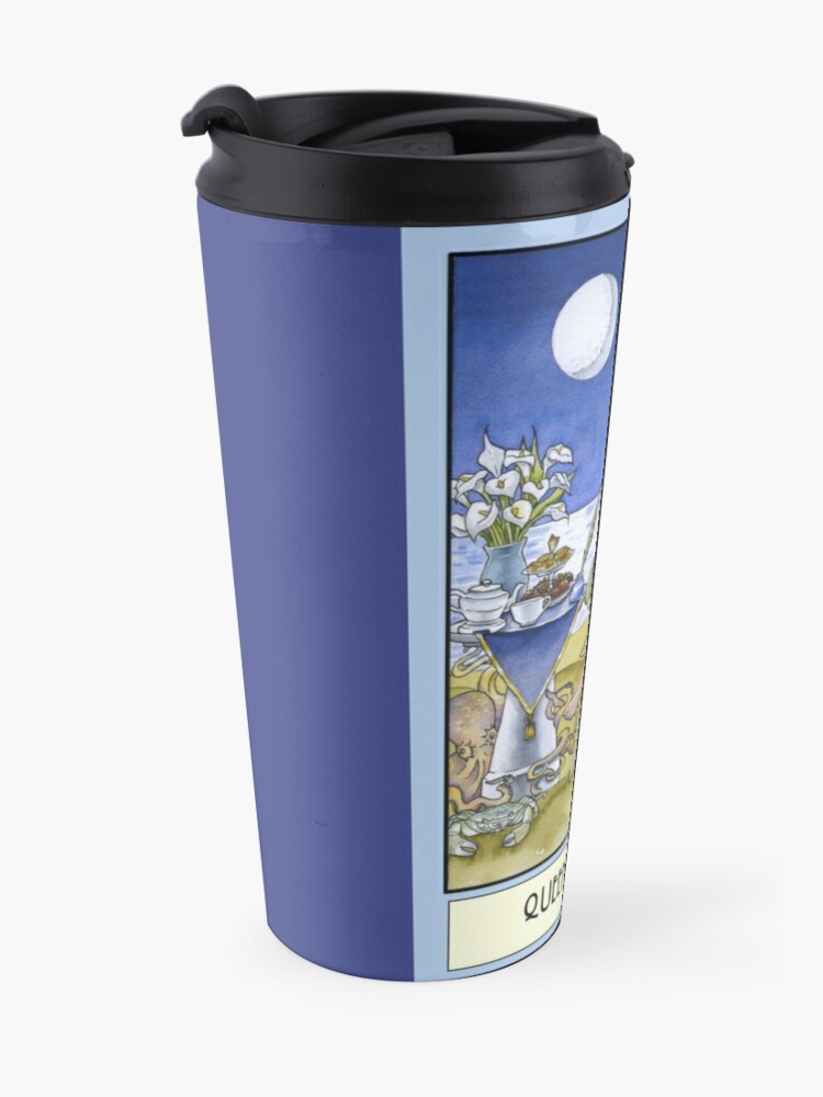 Alternate view of Queen of Cups, Card Travel Mug