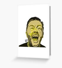 Ricky Gervais Illustration  Greeting Card