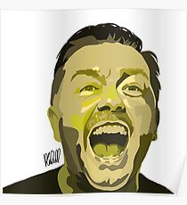 Ricky Gervais Illustration  Poster