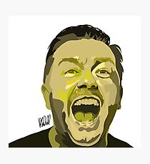 Ricky Gervais Illustration  Photographic Print