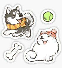 Fluffy Spitz Dogs Sticker