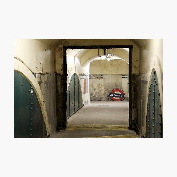 Aldwych abandoned London Underground Tube station Photographic Print