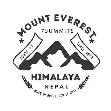 Mount Everest Nepal by leksele
