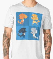 Cartoon cute funny dogs Men's Premium T-Shirt