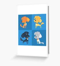 Cartoon cute funny dogs Greeting Card