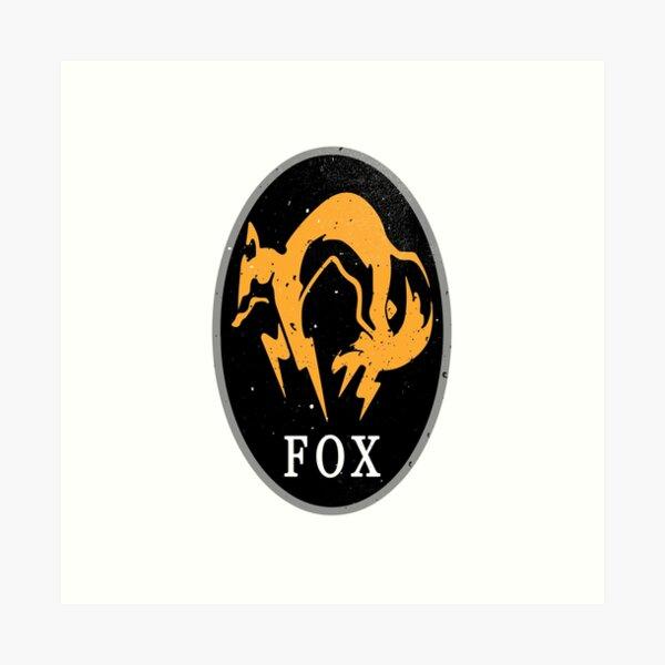 MGS - FOX Logo Art Print