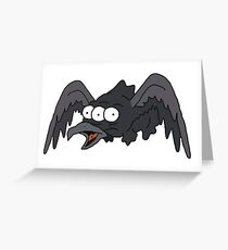 Three Eyed Raven Greeting Card