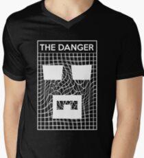 Die Gefahr T-Shirt mit V-Ausschnitt für Männer