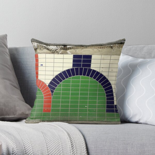 Aldwych abandoned London Underground Tube station Throw Pillow