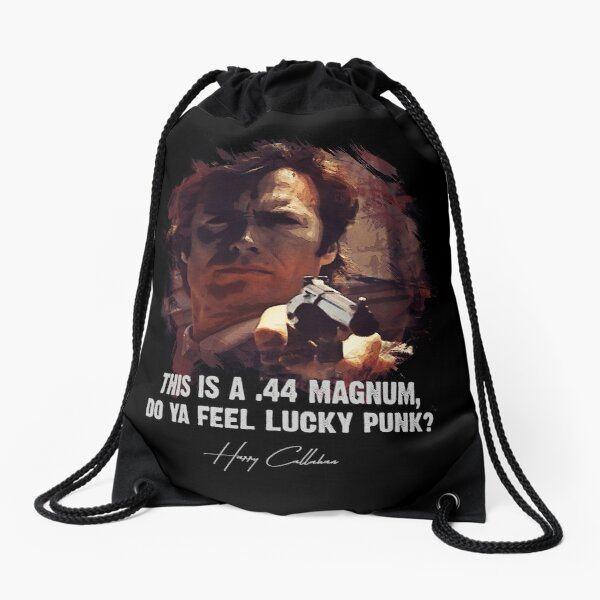 ★ DIRTY HARRY ★ Do Ya Feel Lucky Punk? ➢ Clint Eastwood famous movie quote ♛ Drawstring Bag