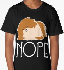 Nope Lazy Pomeranian Shirt Long T-Shirt