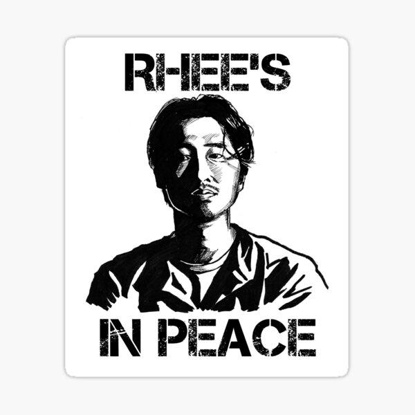 Glenn Rhee: Rhee's In Peace Sticker