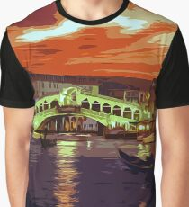 Magical Sunset over Rialto Bridge in Venice Graphic T-Shirt