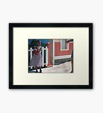 girl & doll Framed Print