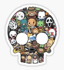 Horror Collage Funny Slasher Skull Sticker