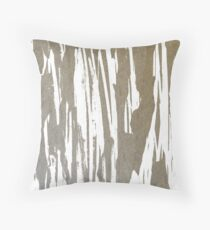 Abstract Taupe Splash Design Throw Pillow