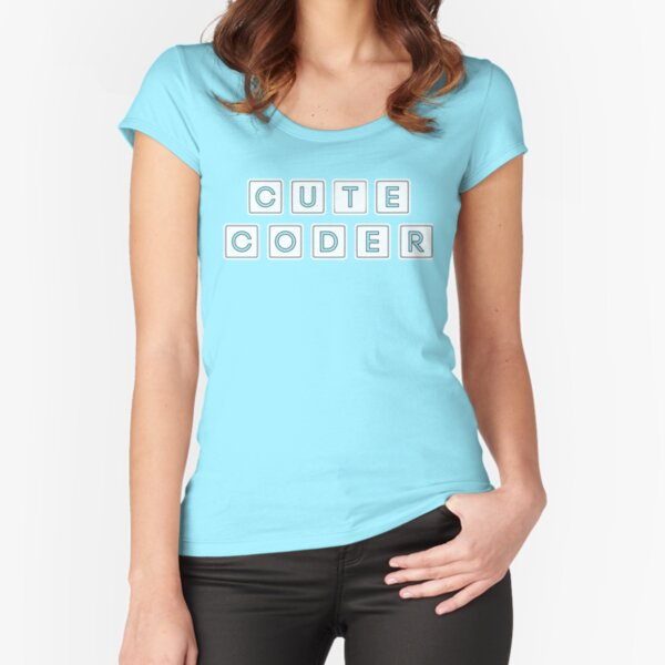 Cute Code for female scientists Fitted Scoop T-Shirt