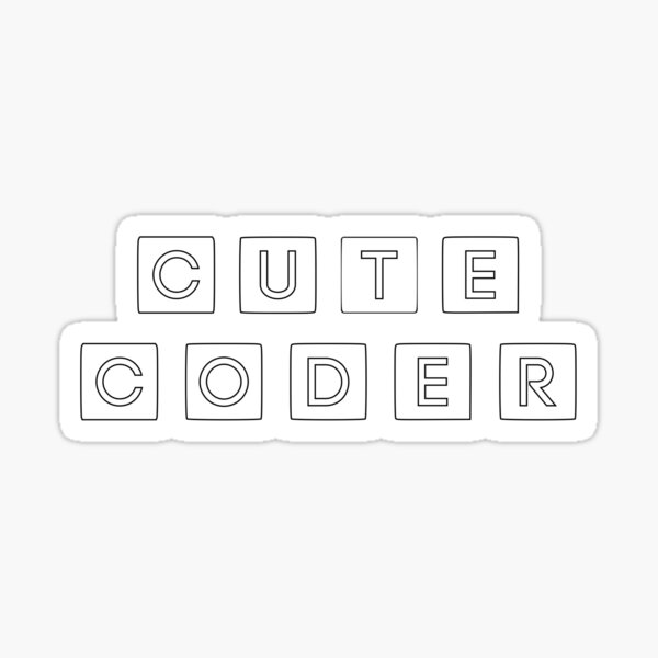 Cute Code for female scientists Sticker