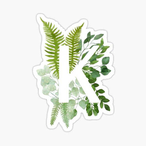 Floral letter K Sticker