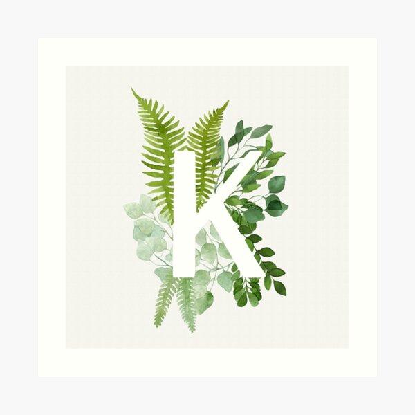 Floral letter K Art Print