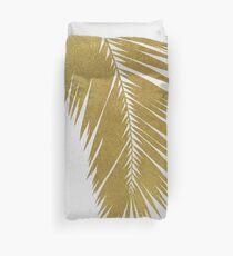 Gold Palm Leaf I Duvet Cover