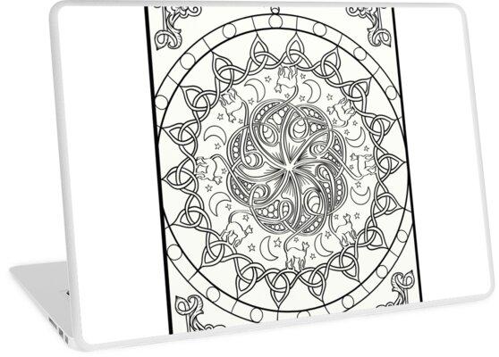 Vinilos para portátiles «Cat Tails - Nudo celta Mandala» de lozsart ...