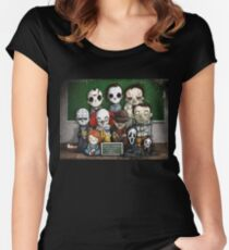 Horror Collage Funny Overlook High Women's Fitted Scoop T-Shirt