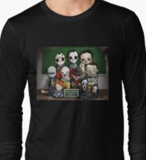 Horror Collage Funny Overlook High Long Sleeve T-Shirt
