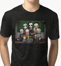 Horror Collage Funny Overlook High Tri-blend T-Shirt