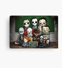 Horror Collage Funny Overlook High Canvas Print