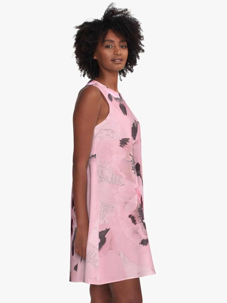 Alternate view of Poppies in the pink A-Line Dress