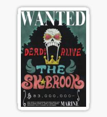 Wanted Brook One Piece Sticker