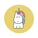 Cute Kawaii Unicorn by Fiona Reeves