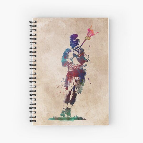 Lacrosse player art 2 #sport #lacrosse Spiral Notebook